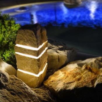 Licht und Sound aus Stein